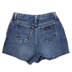 Vintage Wrangler High Waisted Cut Off Jean Shorts